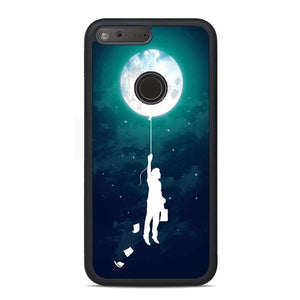 Banksy Boy Balloon Moon Google Pixel Case | Teesmarvel