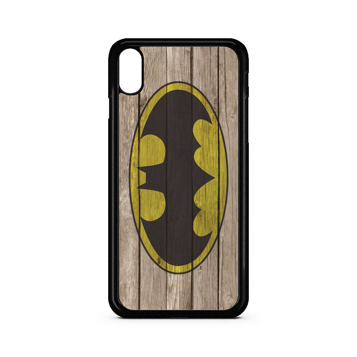Batman Wood Logo iPhone XS Case | Teesmarvel