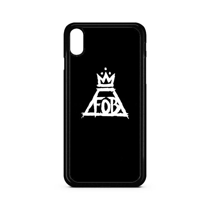 Black White Fall Out Boy Logo iPhone XS Max Case | Teesmarvel