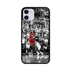 Black White Michael Jordan Last Shot iPhone 11 Case | Teesmarvel