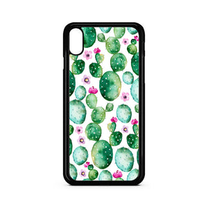 Cactus Pattern Art iPhone XS Case | Teesmarvel