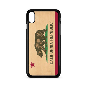 California Republic Wood Texture iPhone XR Case | Teesmarvel