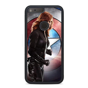 Captain America Black Widow Google Pixel Case | Teesmarvel