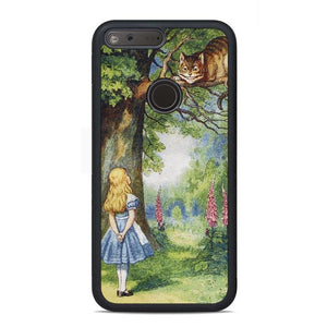 Chersire Cat And Alice Google Pixel Case | Teesmarvel
