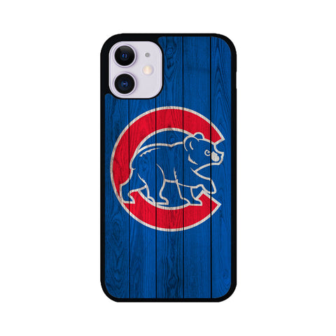 Chicago Cubs Home Baseball Wood Texture iPhone 11 Case | Teesmarvel