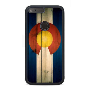 Colorado State Flag Wood Blue Design Google Pixel Case | Teesmarvel