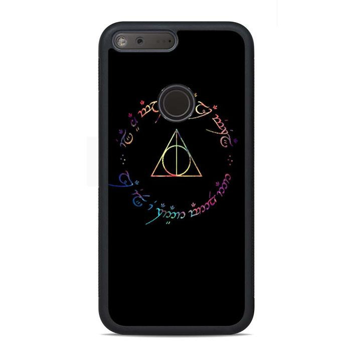 Deathly Hallows Galaxy Google Pixel Case | Teesmarvel