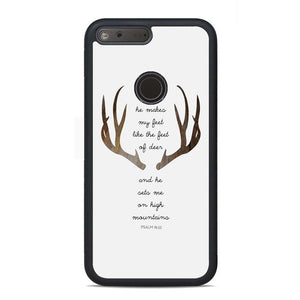 Deer Bible Verse Quotes Google Pixel Case | Teesmarvel