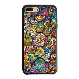 Disney All Characters Stained Glasses iPhone 7 Plus Case | Teesmarvel