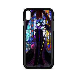 Disney Malficent Stained Glasses iPhone XR Case | Teesmarvel