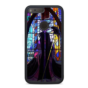 Disney Malficent Stained Glasses Google Pixel Case | Teesmarvel