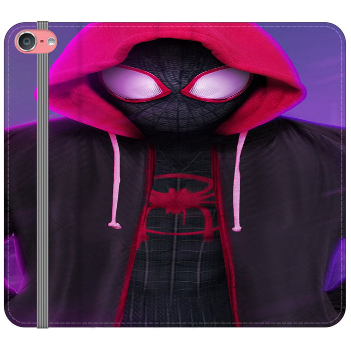 Red Black Spiderman Kid Hoodies Into The Verse iPod 6 Flip Case | Teesmarvel