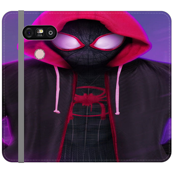 Red Black Spiderman Kid Hoodies Into The Verse LG V20 Flip Case | Teesmarvel