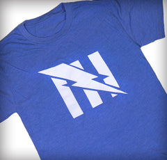 Women's Blue Team Flag Logo Tee