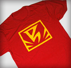 Women's Red Team Flag Logo Tee