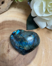 Load image into Gallery viewer, Labradorite Large Puffy Heart