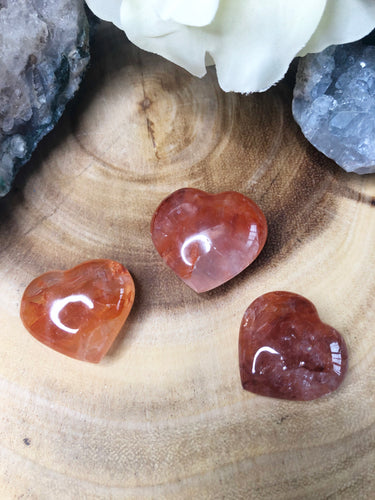 Fire Quartz Heart