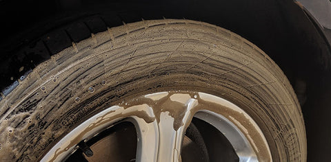 Dirty Tire Tyre using OmniClean Tire cleaner