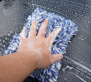 Mad for Detailing Soft Microfiber Wash Pad used to wash the cars paintwork with scratching