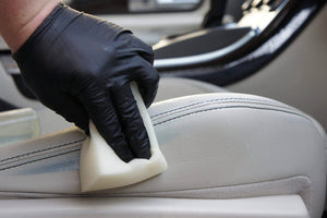 Black Mamba Super Tough Disposable Gloves Cleaning Leather car seat