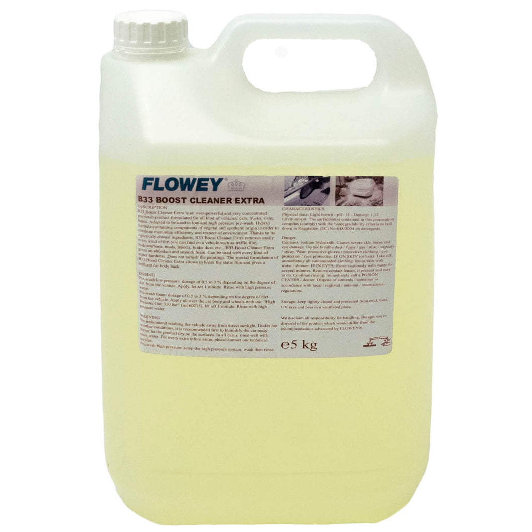 Flowey B33 Snow Foam Boost Cleaner Extra. Traffic film & bug Remover. 5 litre