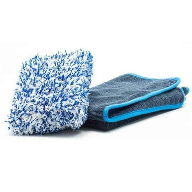Mad for Detailing Soft Microfiber Wash Mitt & Vast Grey Twister Premium Drying Towel 63×90 Washing & Drying Pack
