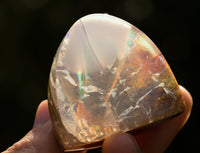 408 ct Exceptional Opal from Opal Butte, Morrow County, Oregon with Contra Luz rainbow