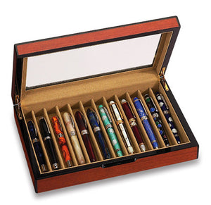 12 Pen Display Case Rosewood