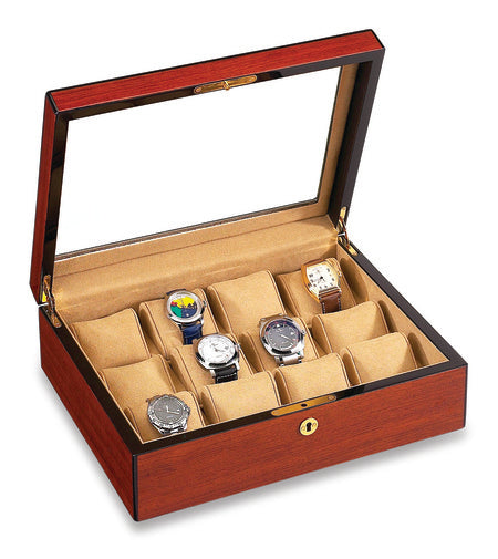 12 Watch Display Case Rosewood
