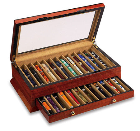 24 Pen Display Case Rosewood