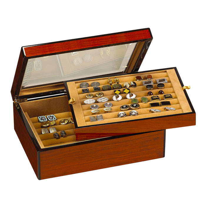 SOLD OUT 50 Cufflink Display Case Rosewood SOLD OUT
