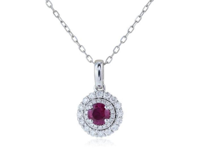 .34 Carat Ruby And Diamond Pendant - Boston