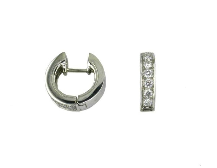 0.39 Carat Diamond Huggie Earrings (WG) - Boston