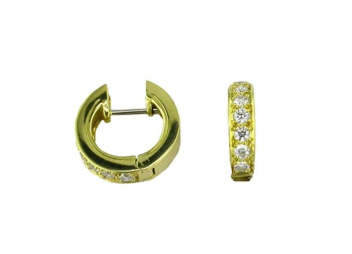 .40CTW Diamond Huggie Earrings (18KYG) - Boston