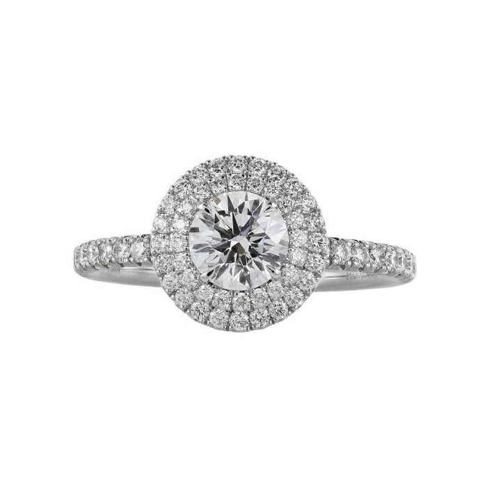 0.70ct Round Brilliant Cut Diamond Ring (GIA Certified White Gold) - ENGAGEMENT Boston