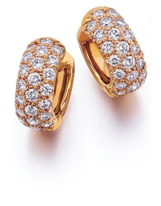 0.87 Carat Diamond Huggie Earrings (PG) - Boston