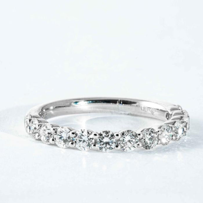 1CTW Round Diamond Halfway Band - Boston