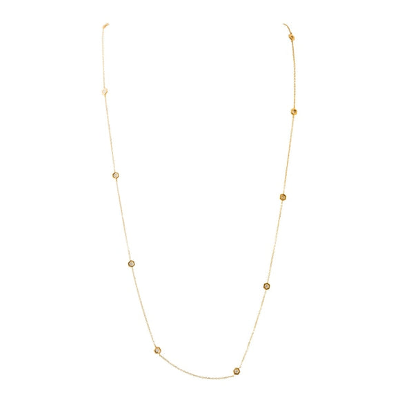 1.00Ctw Gumuchian Mini B Diamond By The Yard Necklace - Jewelry Boston