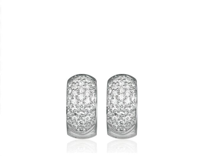 1.03 Carat Diamond Hoop Earrings - Boston
