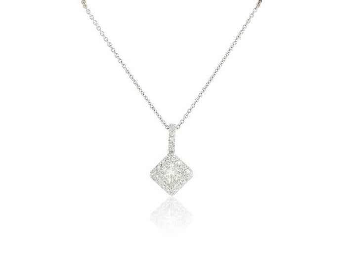 18 Kt 1.04 Ct Princess Cut Diamond Pendant - Boston