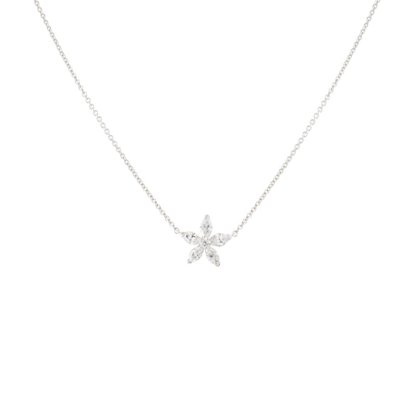1.04ct Marquise Diamond Pendant (14k White Gold) - JEWELRY Boston