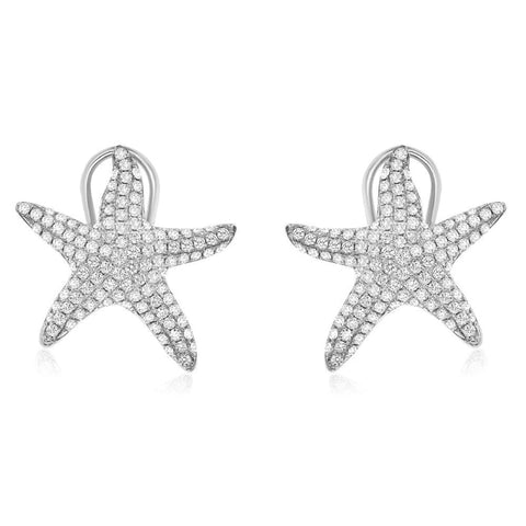 1.11CTW Diamond Starfish Earrings - JEWELRY Boston