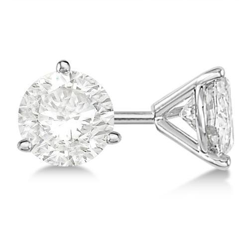 1.16CTW Round Diamond Stud Earrings - Boston