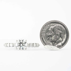 Platinum 1.20CT Round H/VS2 GIA Solitaire Ring - Boston