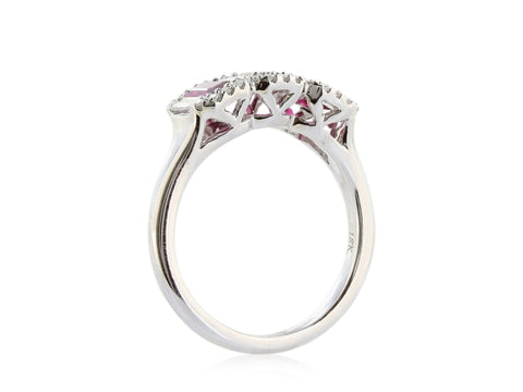 1.20ct Ruby & Diamond Ring (White Gold) - JEWELRY Boston
