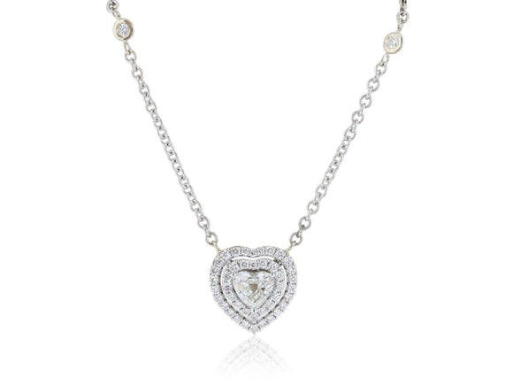 1.23 Carat Heart Shaped Diamond Pendant - Jewelry Boston