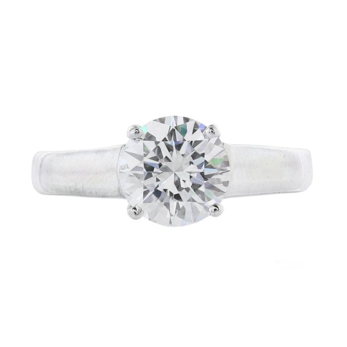 1.26 carat F/VS2 Round Brilliant Cut Solitaire Ring (GIA Certified White Gold) - ENGAGEMENT Boston