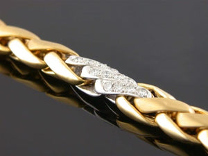 1.26ct Diamond Bracelet (Two Tone) - JEWELRY Boston