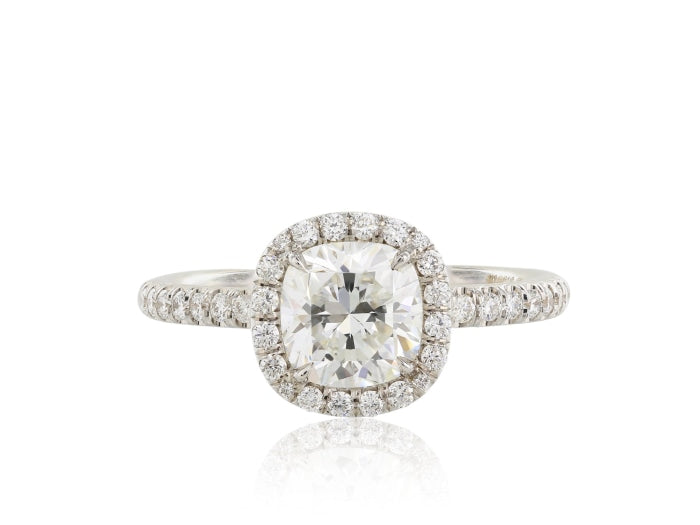 1.27ct Cushion Cut Diamond Ring (GIA Certified White Gold) - ENGAGEMENT Boston