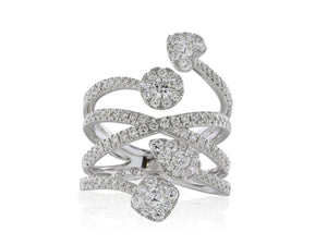1.31 Carat Diamond Right Hand Ring - Jewelry Boston